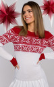 Christmas Sweater Dress in White by MOE