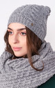 Stylish Beanie in Grey by Lanti