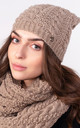 Stylish Beanie in Brown by Lanti