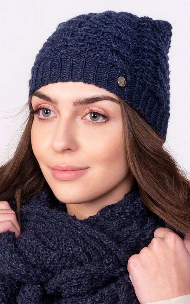 Stylish Beanie in Navy Blue by Lanti