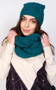 Winter Set Hat and Snood in Green by Lanti