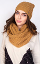 Winter Set Hat and Snood in Cappuccino by Lanti