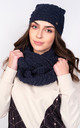 Winter Set Hat and Snood in Navy Blue by Lanti