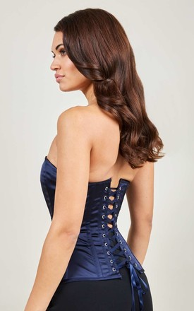 Moulin Rouge Navy Blue Corset by Diva Catwalk