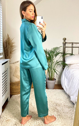 Silky Pajamas in Mint by KURT MULLER