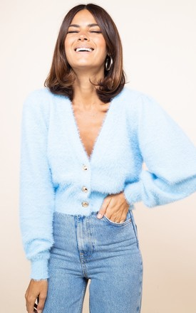 Ariana Cardigan in Baby Blue by Dancing Leopard