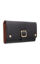 MEDIUM FLAP OVER BUCKLE PURSE BLACK by BESSIE LONDON