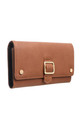 MEDIUM FLAP OVER BUCKLE PURSE TAN by BESSIE LONDON