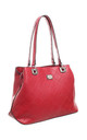 BESSIE LONDON LOGO PRINT SHOULDER BAG RED by BESSIE LONDON