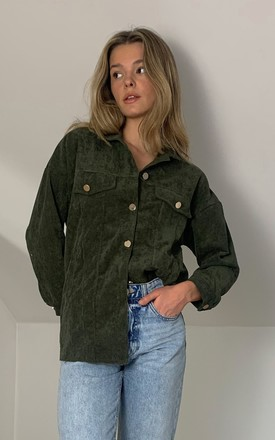 Demi Cord Shacket- Olive by SlayTwins