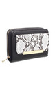 SNAKE PRINT FRONT POCKET PURSE BLACK by BESSIE LONDON