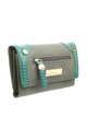 SMALL LIZARD EFFECT FLAP OVER PURSE by BESSIE LONDON