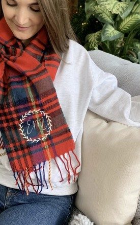 Personalised Women's Traditional Tartan Scarf by Solesmith