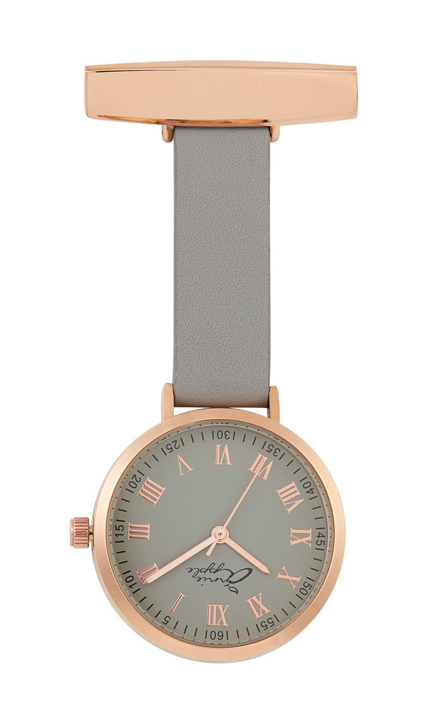 Meraki Rose Gold/Grey Leather Fob 35 by Peachy Label