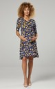 Nursing & Maternity Jersey Dress in Navy Floral Print 609 CL11 by Chelsea Clark