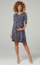 Nursing & Maternity Jersey Dress in Navy Floral Print 609 CL12 by Chelsea Clark