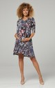 Nursing & Maternity Jersey Dress in Navy Floral Print 609 CL13 by Chelsea Clark