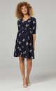 Nursing & Maternity Jersey Dress in Navy Floral Print 609 CL15 by Chelsea Clark