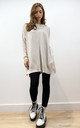 Amalfi Oversized Longline Knitted Jumper Dress in Ivory by Love