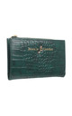 SMALL CROC PRINT CARD HOLDER PURSE GREEN by BESSIE LONDON
