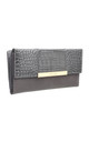 CROC PRINT FLAP OVER PURSE by BESSIE LONDON