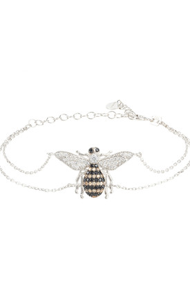 Honey Bee Bracelet Silver by Latelita