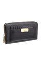 CROC PRINT WALLET WITH DETACHABLE CARD HOLDER BLACK by BESSIE LONDON