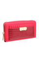 CROC PRINT WALLET WITH DETACHABLE CARD HOLDER RED by BESSIE LONDON