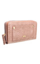 URBAN SNAKE PRINT WALLET TAN by BESSIE LONDON