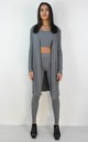 3 Piece Ribbed Knit Loungewear Co-ord Set In Grey by Boutique Store