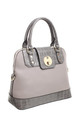 CROC PRINT FLAP OVER TWIST LOCK TOTE by BESSIE LONDON