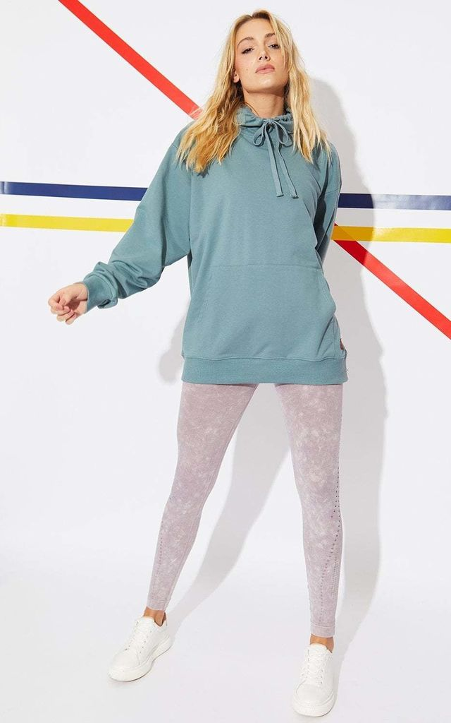 Hooded Cotton Sweatshirt in Teal by Jayley Collection