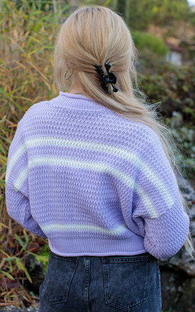 Alice Lilac Striped Jumper by In The Knitwear