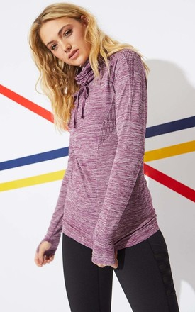 High Collar Sweatshirt in Purple by Jayley Collection