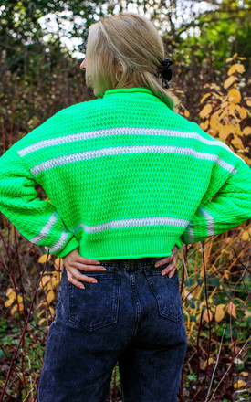 Alice Lime Green Striped Jumper by In The Knitwear