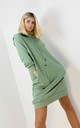 Oversized Hoodie Dress In Green by Boutique Store