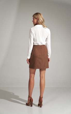 Brown A-line Mini Skirt by FIGL