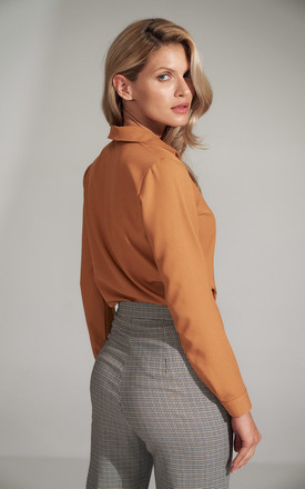 Brown Shirt With a Collar by FIGL