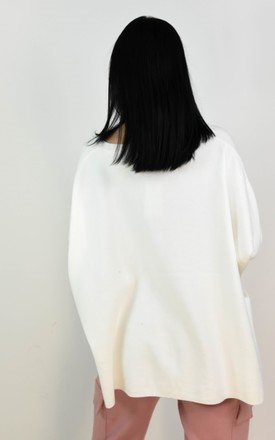 White Rock & Roll Batwing Sleeve Boxy Jumper by Boutique Store