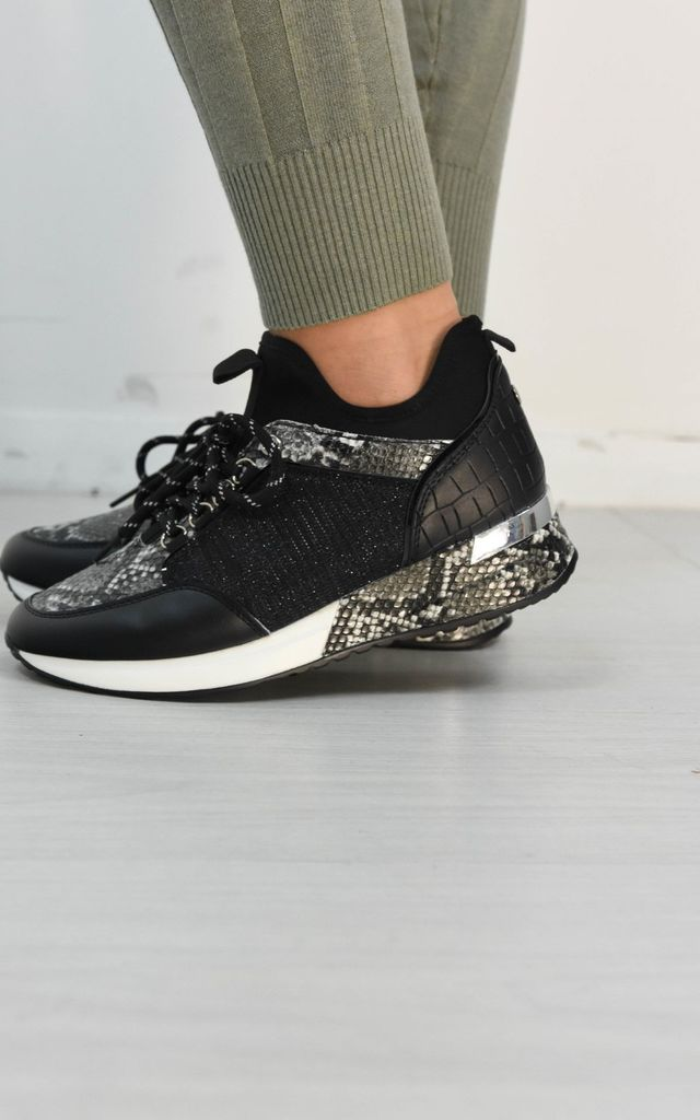 Scuba High Top Snake Lace Up Trainers by Boutique Store
