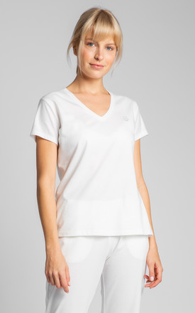 V-Neck T-Shirt in White by MOE
