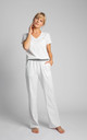 Pyjamas Cotton Pants in White by MOE
