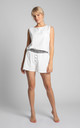Boxer Style Shorts in White by MOE