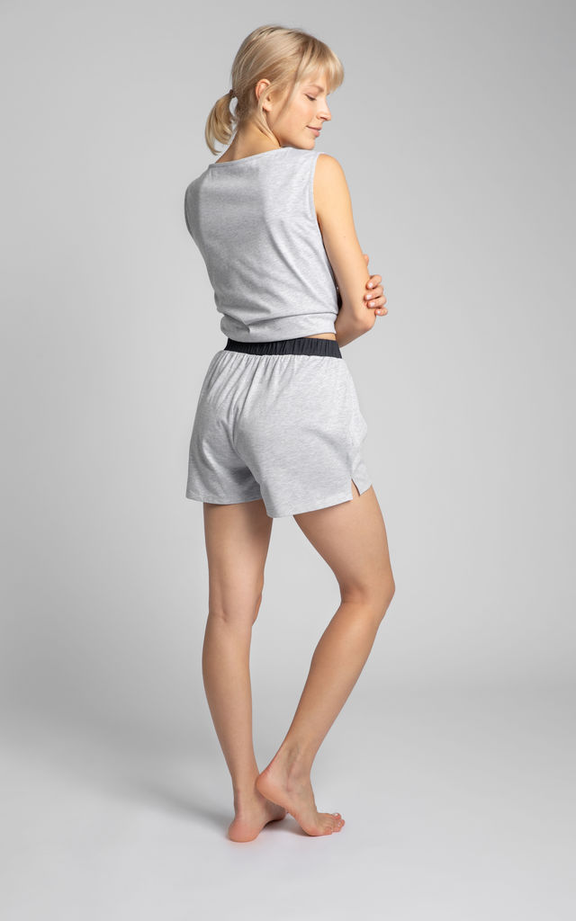 Boxer Style Shorts in Light Grey by MOE