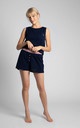 Boxer Style Shorts in Navy Blue by MOE