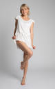 Ruffled Shorts in White by MOE