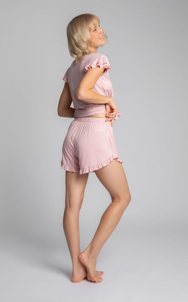 Ruffled Shorts in Pink by MOE