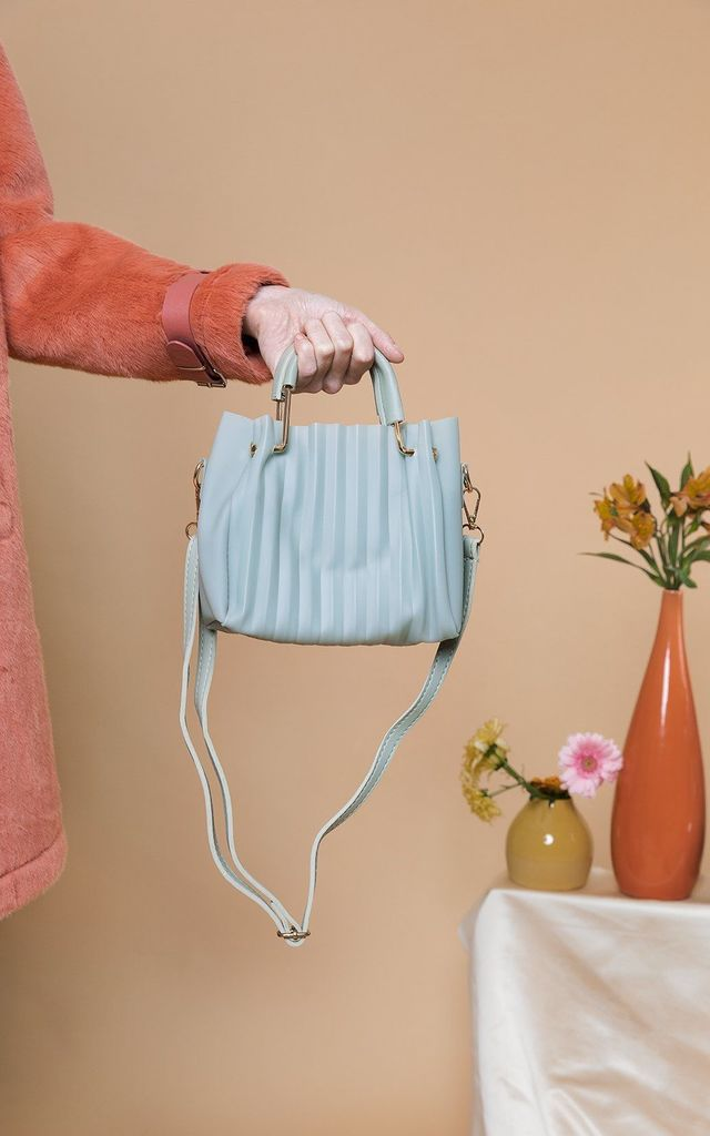 Sage Green Pleated Jelly Crossbody Bag by Sugar + Style