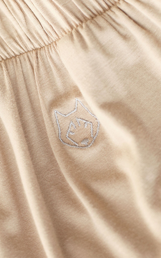 Loose Pyjama Pants in Beige by MOE