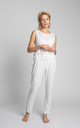 Loose Pyjama Pants in White by MOE